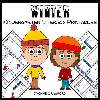 Winter No Prep Common Core Literacy (kindergarten)