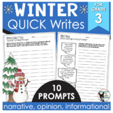 Winter Quick Writes 10 Prompts Ready to Print and Write