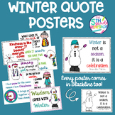 Winter Quotes Posters- Melonheadz clip art  *Color and ink