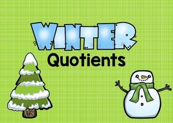 Winter Quotients Boom Cards