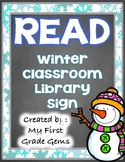 Winter READ Library Sign