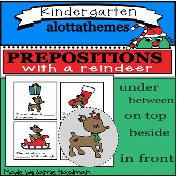 Winter REINDEER prepositions -language and speech therapy