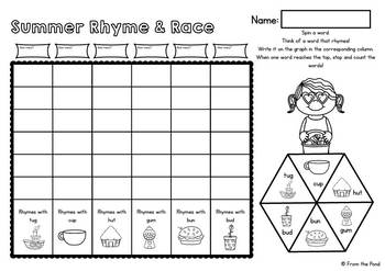 Rhyming Games - Race and Rhyme Worksheets