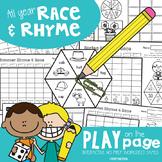 Rhyming Games - Race and Rhyme Worksheets