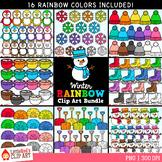 Winter Rainbow Clip Art Bundle