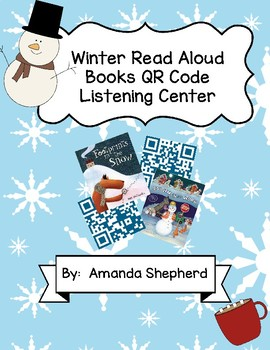 Winter Read Aloud Books QR Code Listening Center