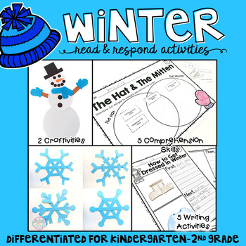 Winter: Reading Comprehension, Writing and Craftivities