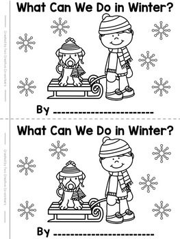 Winter Read & Write High Frequency / Sight Word Mini-book