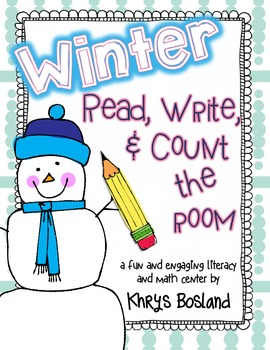 Winter Read, Write, and Count the Room {Literacy and Math Center} {CCSS}