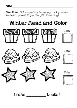 Winter Read and Color