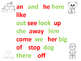 Winter Read and Record Kindergarten Sight Words