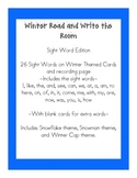 Winter Read and Write the Room- Sight Word Edition