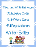 Winter Read and Write the Room, Alphabetical Order, and St