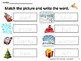 WINTER Write the Room Winter Literacy Activities and Worksheets