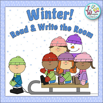 WINTER Write the Room Winter Literacy Activities