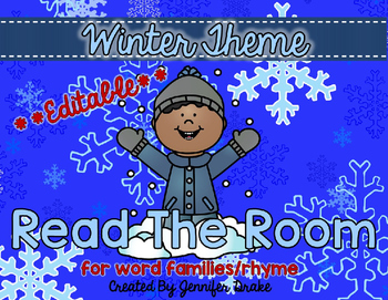 Winter Read the Room **EDITABLE**