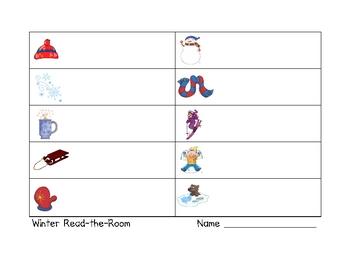 Winter Read-the-Room Literacy Activity