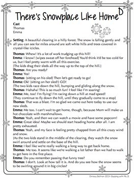 Winter Partner Plays - differentiated scripts for two readers  TpT