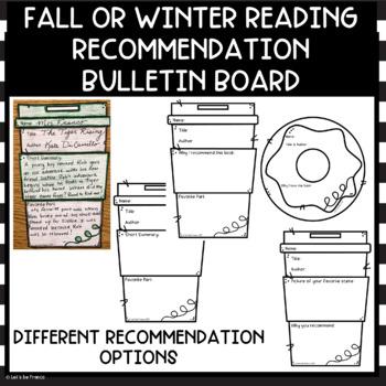 Winter Reading Book Recommendation Bulletin Board