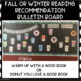 Fall or Winter Reading Book Recommendation Bulletin Board