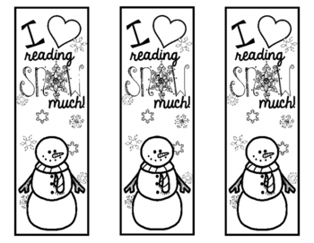 Winter Reading Bookmark