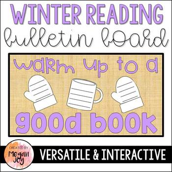 Winter Reading Bulletin Board Set - Warm Up to a Good Book!