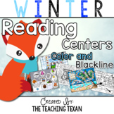 Kindergarten Winter Reading Center Games and Activities