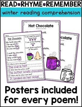 Winter Reading Comprehension Poems