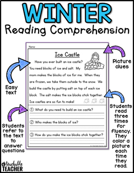 winter reading comprehension by a teachable teacher tpt. Black Bedroom Furniture Sets. Home Design Ideas