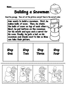 Winter Reading Comprehension Differentiated Packet
