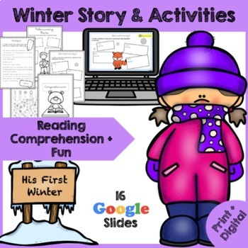 Winter Reading Comprehension - A Bear's first Winter - {New Year's 2019}