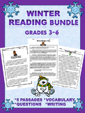 Winter Reading Comprehension Passages Grades 3-6