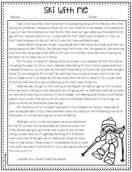 Winter Reading Comprehension Passages and Activities {Just Print}