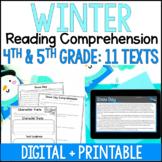 Winter Reading Comprehension Passages - Digital Winter Rea