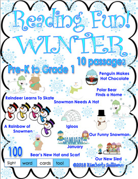 Winter Reading Comprehension Passages and Questions K - 1