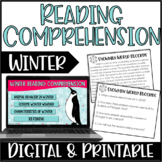 Winter Reading Comprehension Practice | Around the Room Activity