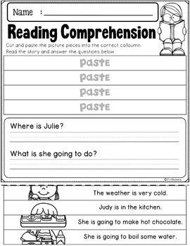 Winter Reading Comprehension – Puzzles