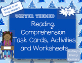 Winter Comprehension Skills Task Cards, Activities, and Worksheets