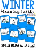 Winter Reading File Folders (20 tasks included)