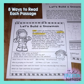Reading Fluency and Word Work-Winter