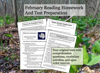 February Reading Homework and Test Preparation