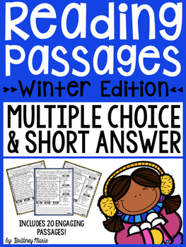 Winter Reading Passages - Multiple Choice and Short Answer