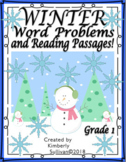Winter Reading Passages and Comprehension Questions Plus Math Task cards Grade 1
