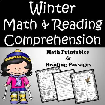 Winter Reading Passages and Math Printables Bundle