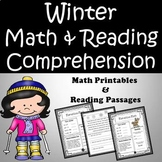 Winter Reading Comprehension Passages and Math Printables Bundle