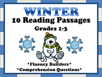 Winter Reading Passages for Fluency and Comprehension Grades 1-3