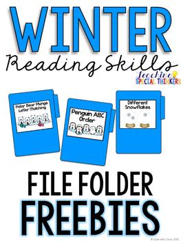 Winter Reading Skills FREEBIE File Folder Tasks