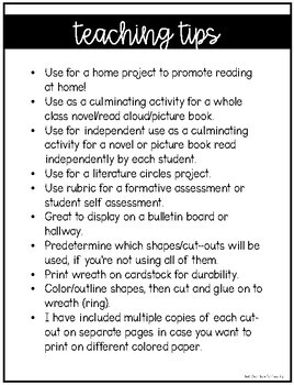 Winter Reading Wreath Craftivity {Use with any fiction or non-fiction text}