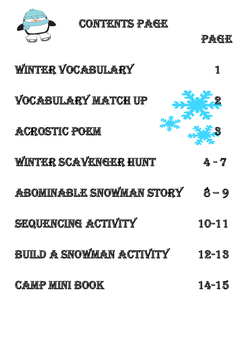 Winter Reading & Writing Activities
