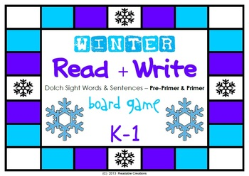Winter Reading + Writing Board Game